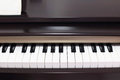 Classic electric pianos front view Royalty Free Stock Photos