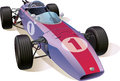 Classic f racing car the rare formula one this is the great example of an old cars editable vector eps v Stock Image