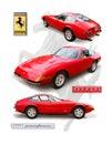 Classic Ferrari 356 `Daytona` Coupe- isolated
