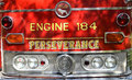 Classic fire engine image of the front of a shot at a car show in poinciana fl Stock Image
