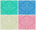 Classic floral seamless backgrounds set.