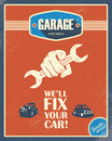 Classic garage poster. Vintage cars. Retro style Royalty Free Stock Photo