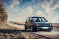 Classic german car, Volkswagen Golf Royalty Free Stock Photo