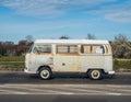 Classic German rusty camper Volkswagen Royalty Free Stock Photo