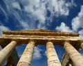 Classic Greek (Doric) Temple at Segesta in Sicily Royalty Free Stock Images
