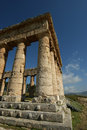 Classic Greek (Doric) Temple at Segesta, Sicily Royalty Free Stock Photography