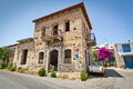 Classic Greek houses in small town of Lasithi Plat Stock Photos