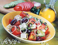 Classic Greek salad. Stock Photo