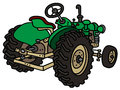Classic green tractor Royalty Free Stock Photo