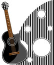 Classic guitar vector illustration eps Stock Photography