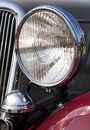 Classic car headlight Royalty Free Stock Photo
