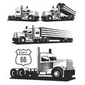 Classic heavy truck illustration isolated on white background. Royalty Free Stock Photo