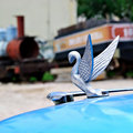 Classic hood ornament Royalty Free Stock Photo