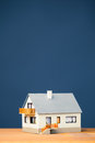 Classic house model blue copy space Stock Photography