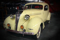 Classic hudson coup a beautiful yellow terraplane restored automobile Stock Photo