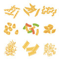 Classic Italian Pasta Types Collection Royalty Free Stock Photo