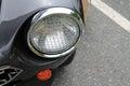 Classic italian sports car headlamp Royalty Free Stock Photo