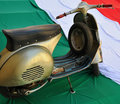 Classic italian style Vespa Royalty Free Stock Photo