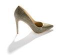 Classic ladies stiletto court shoe on white Royalty Free Stock Photo
