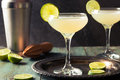 Classic Lime Daiquiri Cocktail Royalty Free Stock Photo