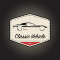 Classic logo of vintage sports vehicle icon design. Vector illustration