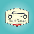 Classic logo of vintage vehicle with icon design. Vector illustration