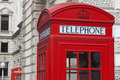 Classic London Red Telephone Box Royalty Free Stock Image