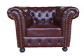 Classic and luxurious armchair with clipping path for use your picture Stock Photo