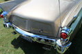 Classic luxury american car rear deck trunk and lamps studebaker golden hawk Stock Photo