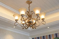 Classic luxury pendent lighting in villa Royalty Free Stock Image