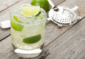 Classic margarita cocktail with salty rim Royalty Free Stock Photo