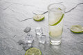 Classic margarita drink with lime and salt Royalty Free Stock Photo