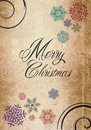 Classic merry christmas new year card paper grungy background Royalty Free Stock Photo