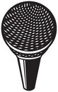 Classic microphone symbol sign design Stock Images