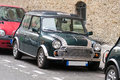 Classic Mini Cooper with carlashes Royalty Free Stock Photo