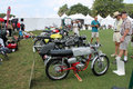Classic motorcycles lined up at event motorcycle set in a row public boca raton concours delegance in south florida Royalty Free Stock Photos