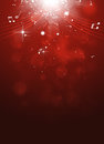 Classic music red background abstract with notes and blurry lights Royalty Free Stock Image