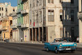 Classic old American car on Malecon Royalty Free Stock Image