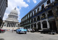 Classic old american car on the streets of Havana Royalty Free Stock Photography