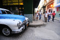 Classic old american car on the streets of Havana Royalty Free Stock Photo