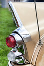 Classic old car back view Royalty Free Stock Photo