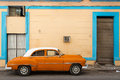 Classic old car on streets of Havana, Cuba. Royalty Free Stock Photo