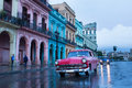 Classic old car on streets of havana cuba Stock Images