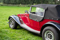 Classic old red car Royalty Free Stock Photo