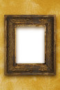 Classic old wooden picture frame carved by hand gold wallpaper Royalty Free Stock Photo