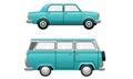 Classic Oldies Vintage Car Minivan Illustration