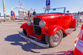 Classic open convertible in red Royalty Free Stock Photo