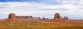 Classic panorama of american west monument valley view from artist point navajo tribal park utah and arizona usa Royalty Free Stock Images