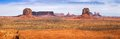 Classic panorama of american west monument valley view from artist point navajo tribal park utah and arizona usa Stock Photos