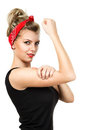 Classic pin-up woman Royalty Free Stock Photo